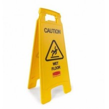 Wet Floor Caution Sign - Yellow