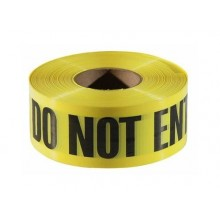 Caution Do Not Enter Barricade - Yellow Tape