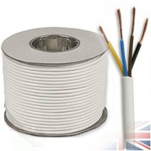 4 Core 2.5mm Round Black Mains Electrical Cable Flex - 100 Meters